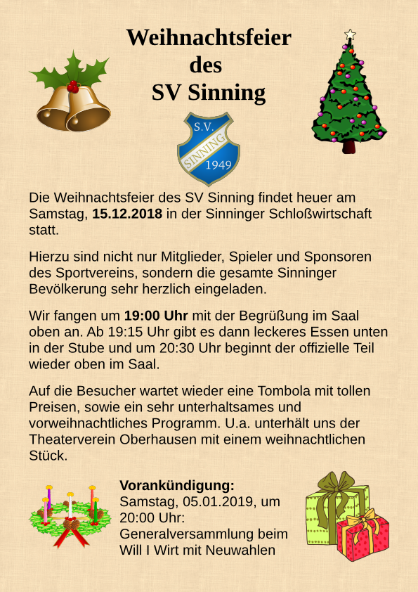 Weihnachtsfeier Begrüßung.Weihnachtsfeier
